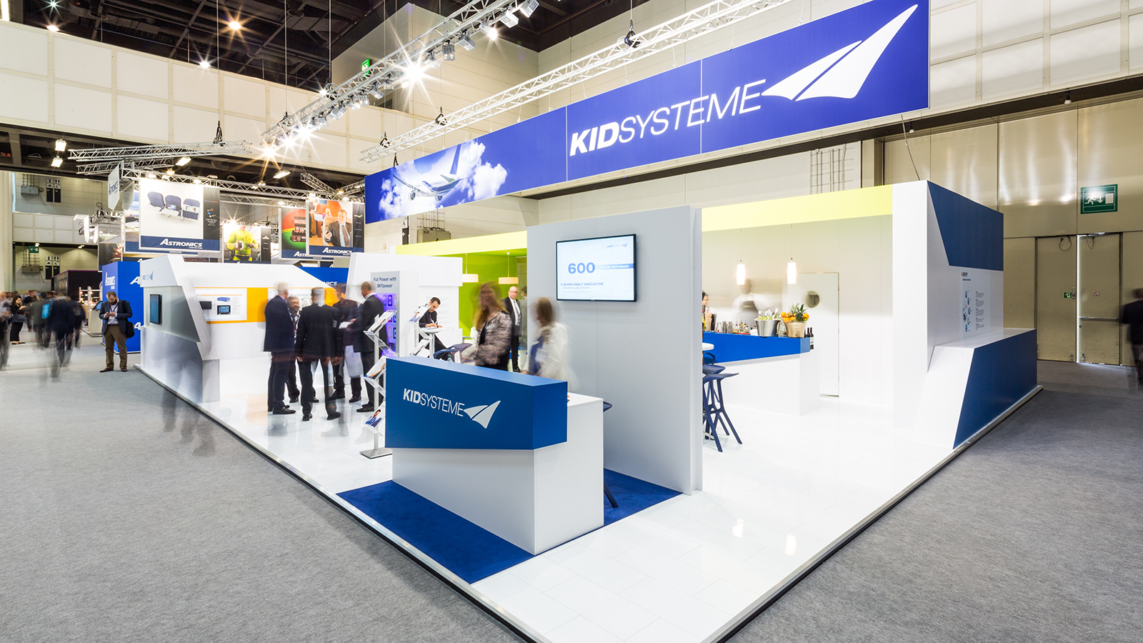 KID Systeme<br>200 m²<br>Aircraft Interiors Expo