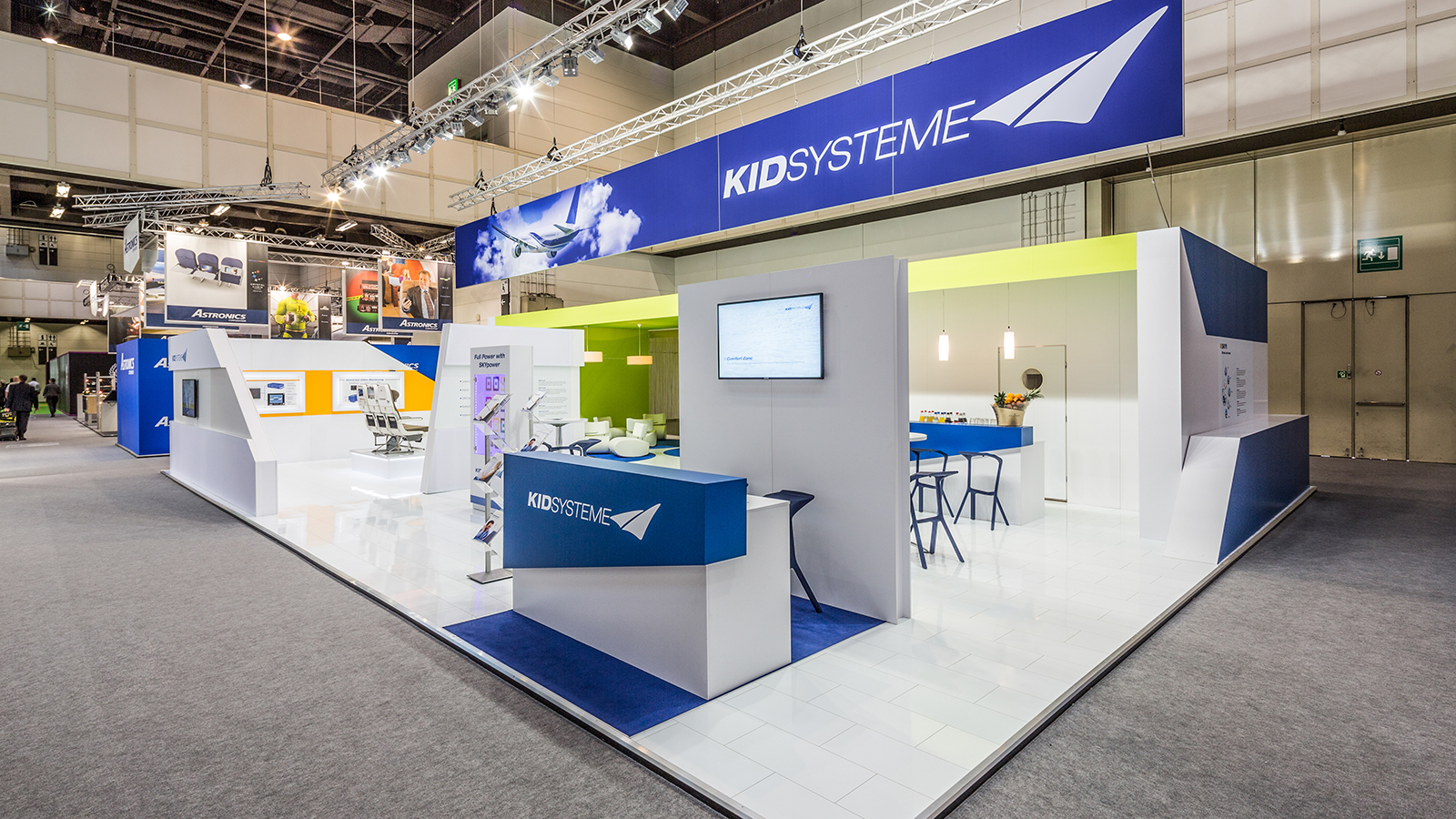 KID Systeme<br>97 m²<br>Aircraft Interiors Expo