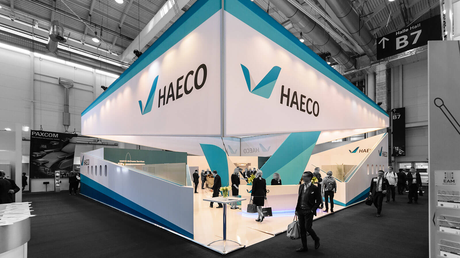 HAECO<br>264 m²<br>Aircraft Interiors Expo