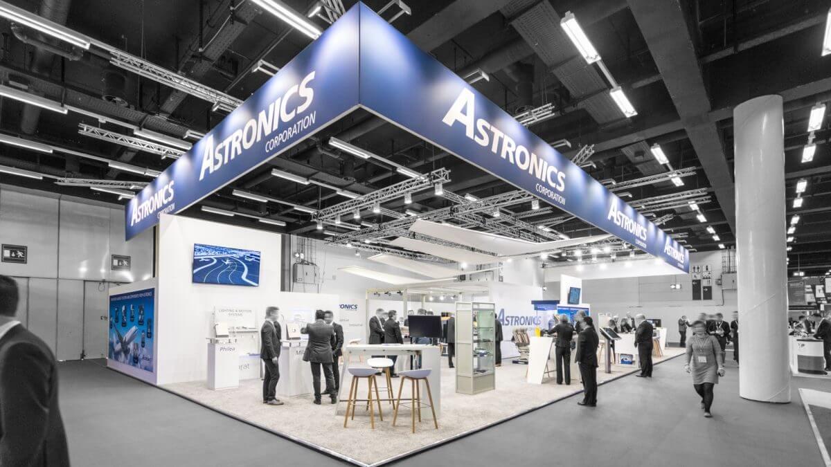 PREUSS MESSE Messebau für Astronics in Hamburg - der perfekte Auftritt!