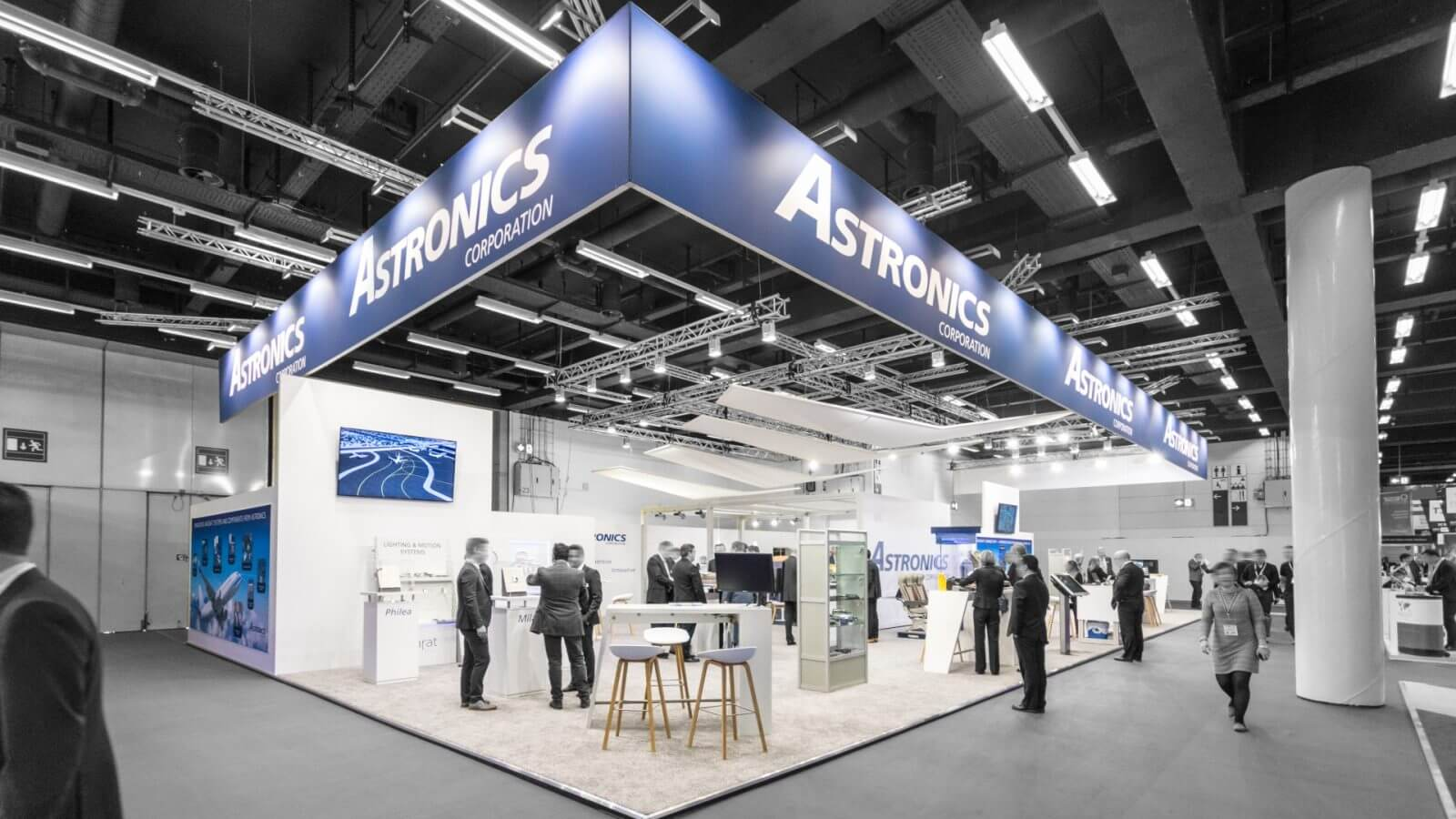 Astronics<br>295 m²<br>Aircraft Interiors Expo