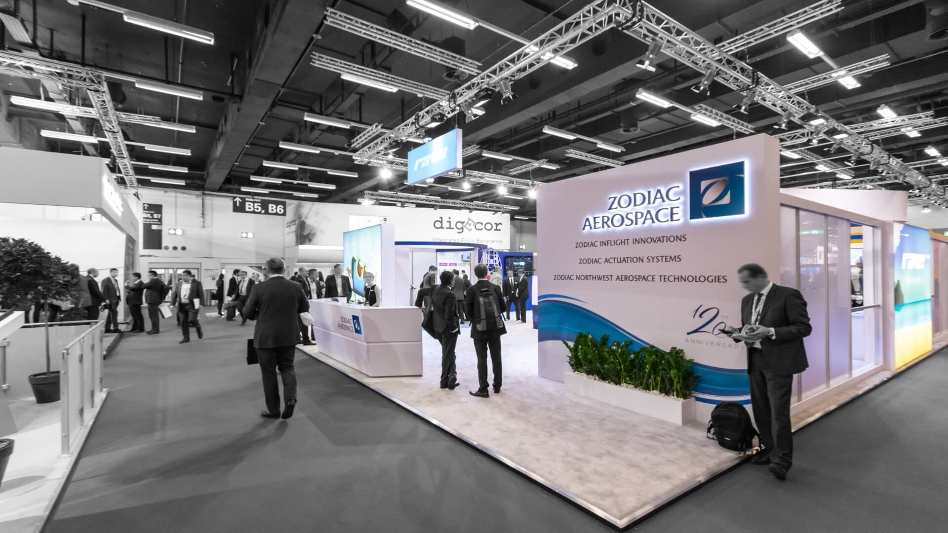 Zodiac<br>348 m²<br>Aircraft Interiors Expo