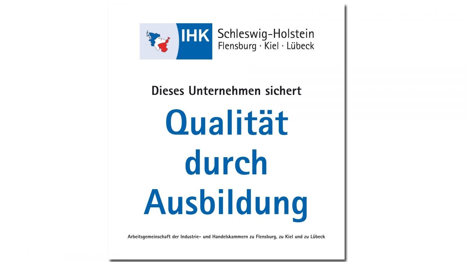 Logo IHK Qualität Durch Ausbildung 2018