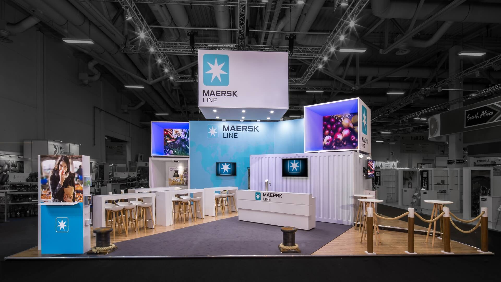 Messestand MAERSK FruitLogistica