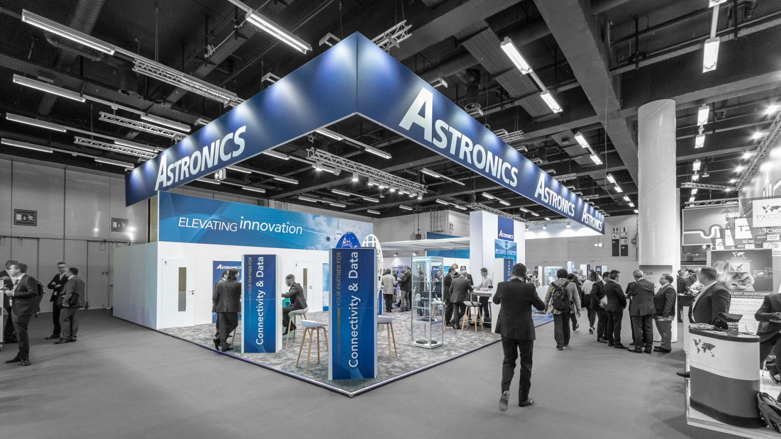Messestand Astronics Aircraft Interiors Expo 2018