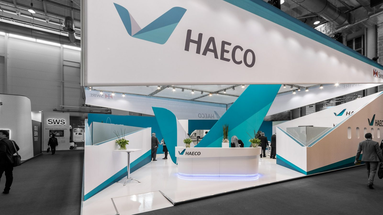 Messestand Haeco Aircraft Interiors Expo 2018
