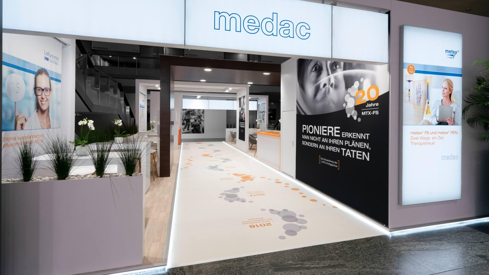 medac<br>130 m²<br>DGRh-Kongress