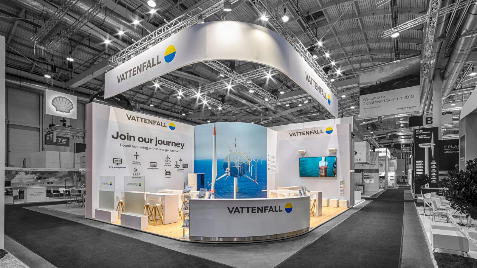 Vattenfall<br>64 m²<br>Hamburg WindEnergy